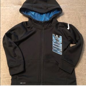Nike Dri Fit zip up hoodie size 3T